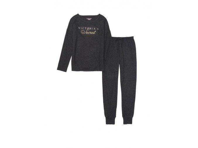 set tričko a tepláky victoria's secret v šedej farbe