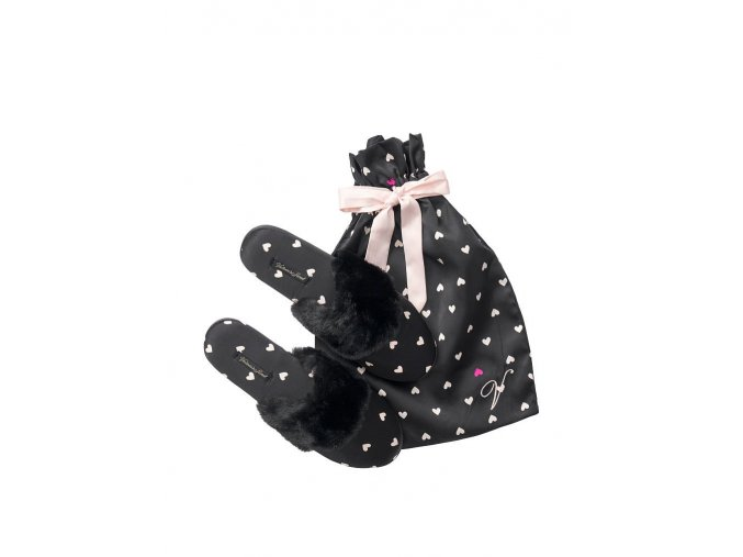 saténové papuče victoria's secret čierne