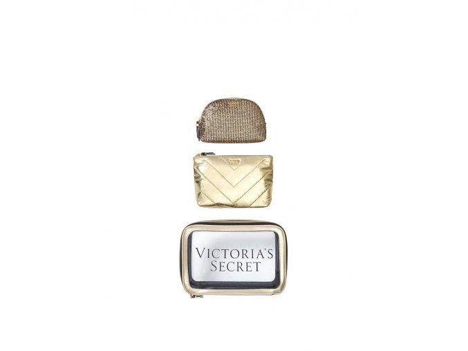 set kozmetických tašiek victoria's secret zlatý