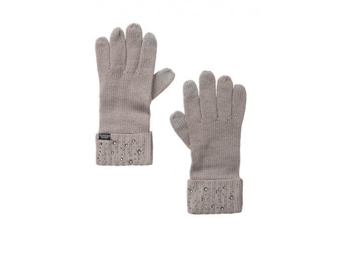 pletené rukavice victoria's secret so striebornou aplikáciou