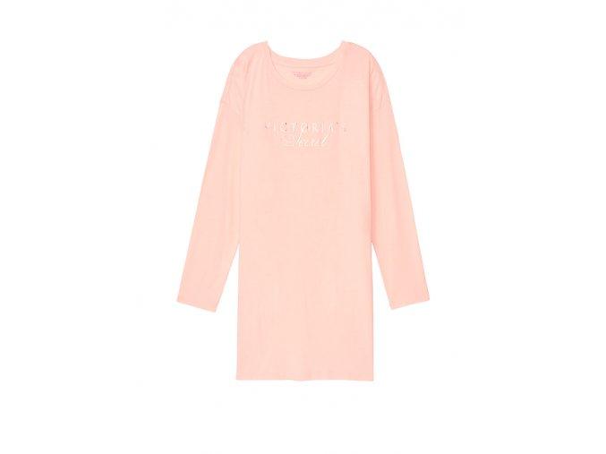 nočná košeľa pyžamo victoria's secret bledoružová