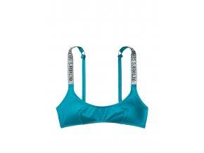 vrchný diel plaviek victoria's secret logo modrý