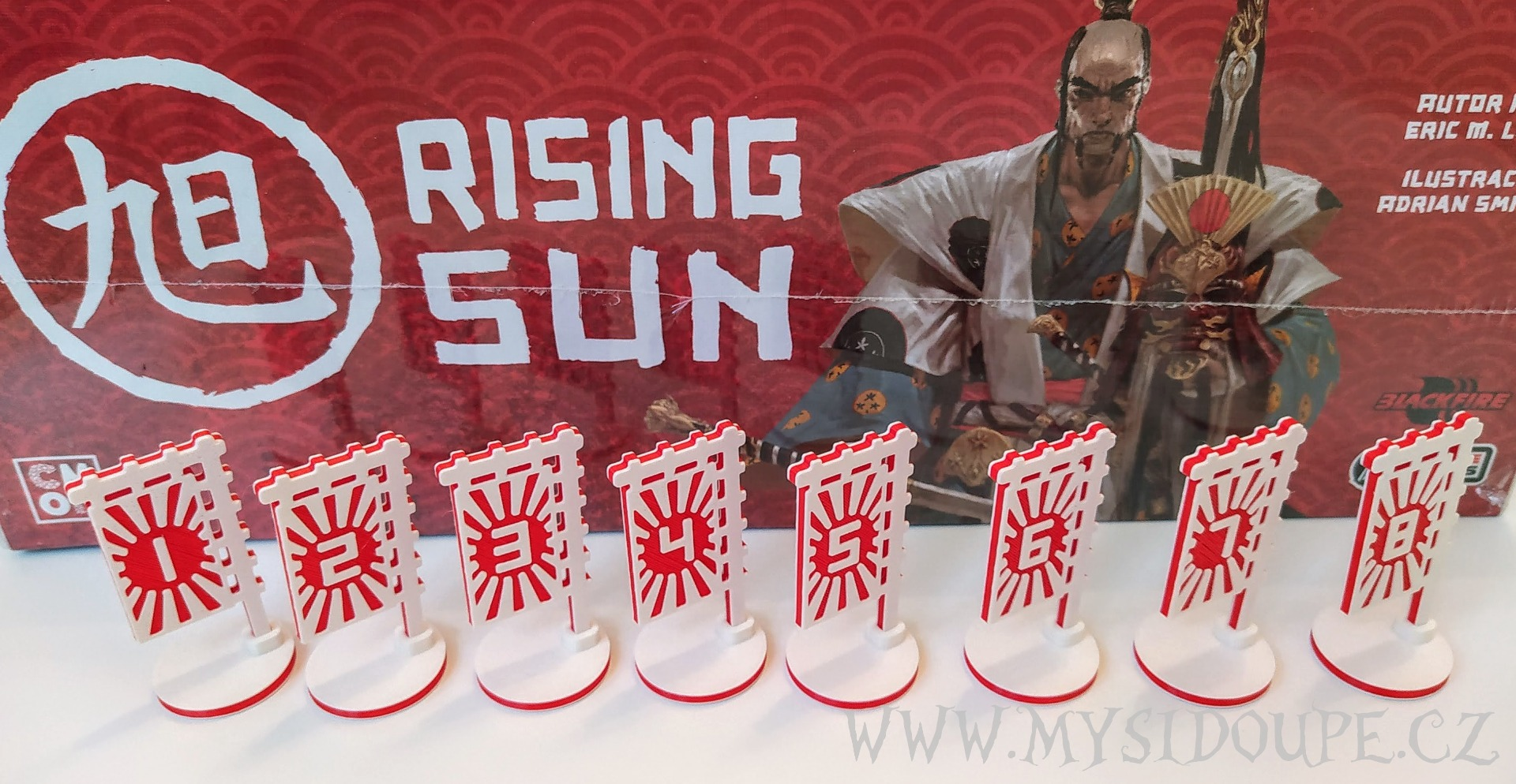 Rising sun - 3D vlajky