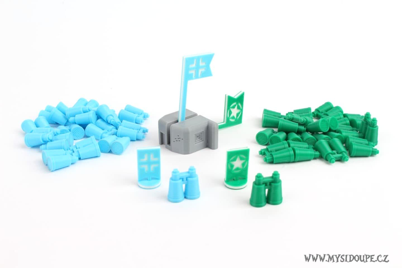 Odhodlaní: Normadie - žetony a bunkr