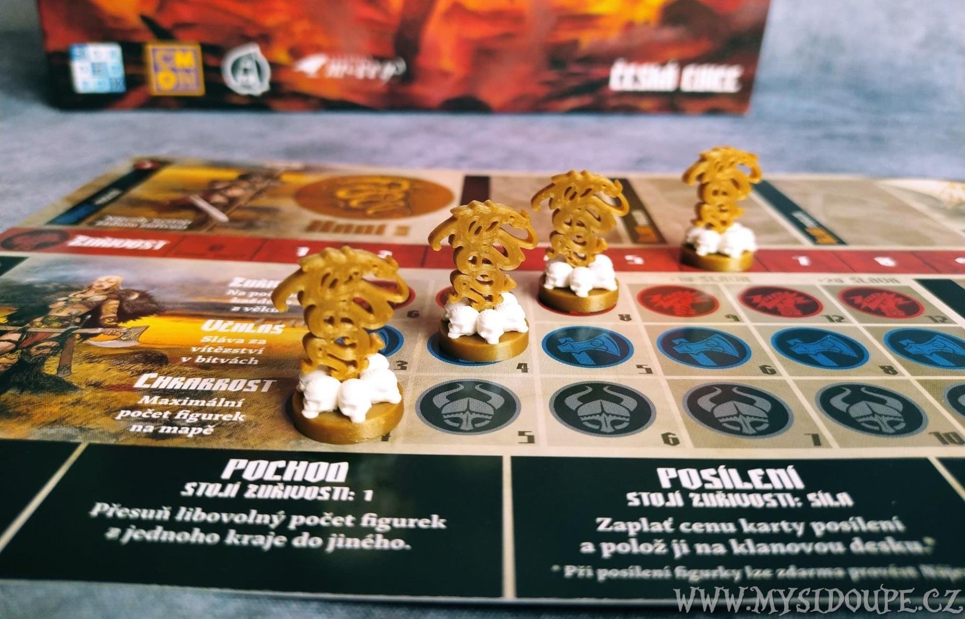 Blood Rage - Žetony hráče a klanů