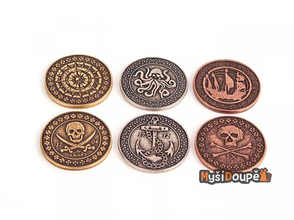 Pirátské mince  Herní kovové mince