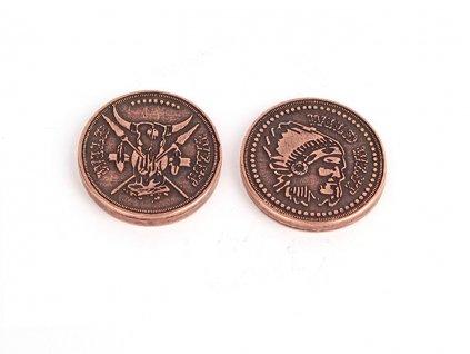 Divoky zapad herni mince kov 1