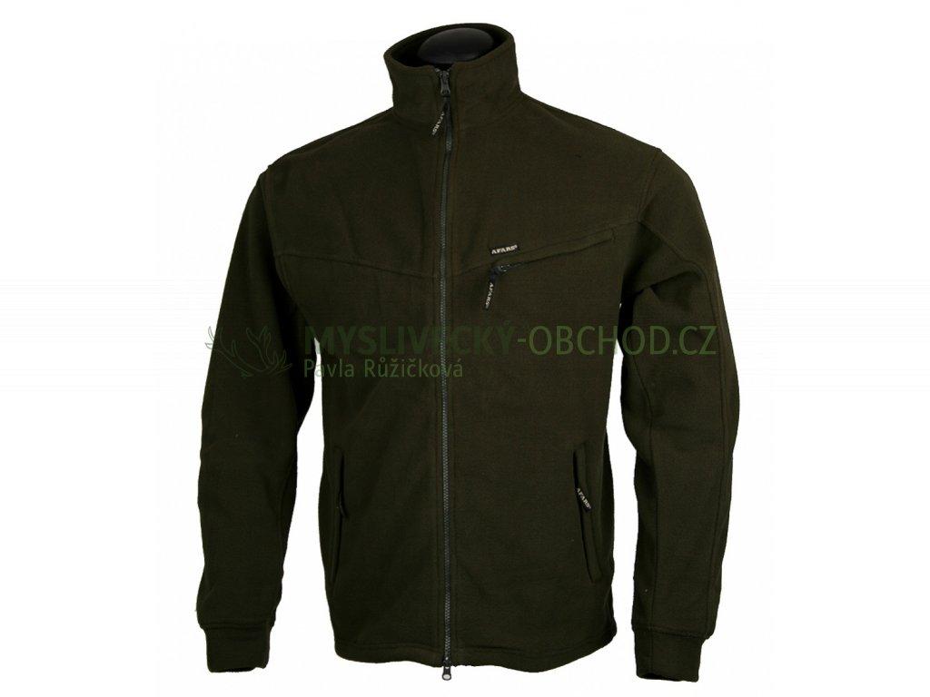 afars fleece dlouhy zip lovecka bunda 01