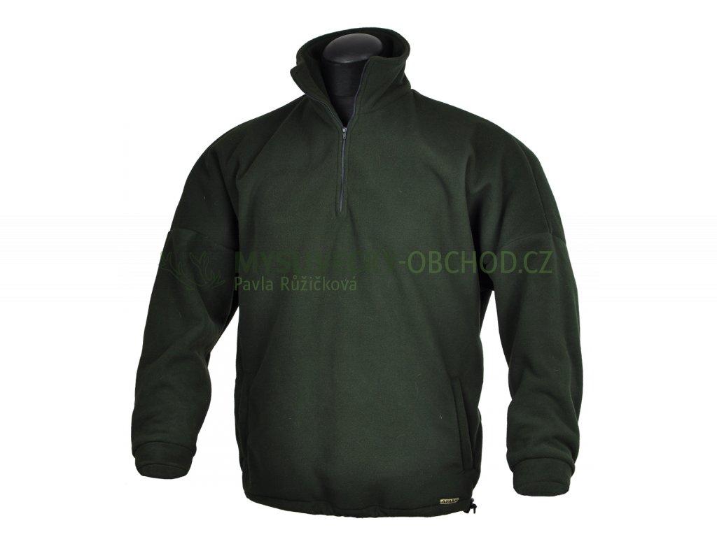 afars fleece kratky zip lovecka bunda 01