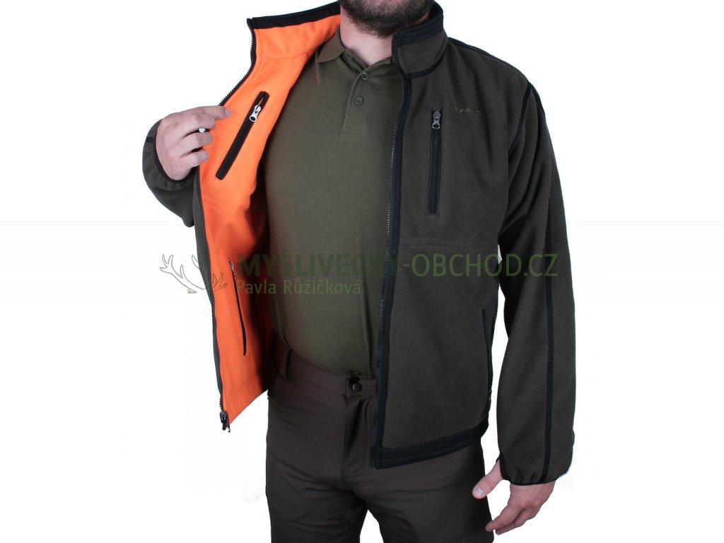 afars k2 fleece oboustranna lovecka bunda