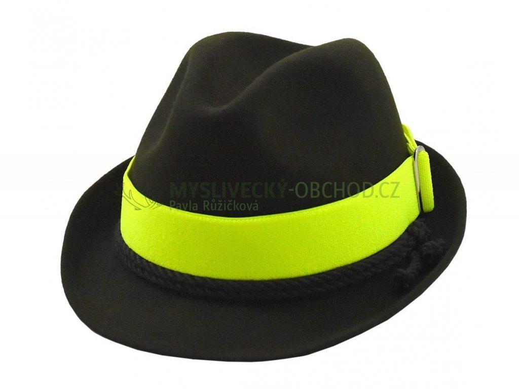 reflexni pasek na klobouk zluta