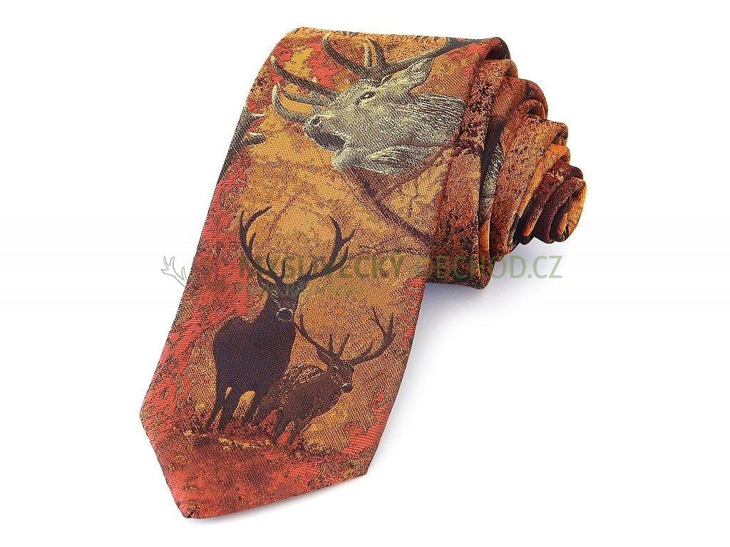 Hedva Pesh jelen a laně myslivecká kravata