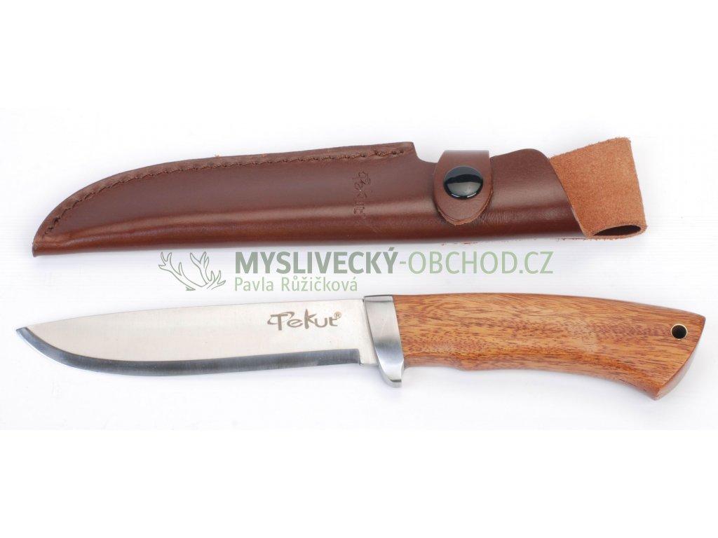 5386 lovecky nuz rukojet tropicke drevo cocobolo 13 cm