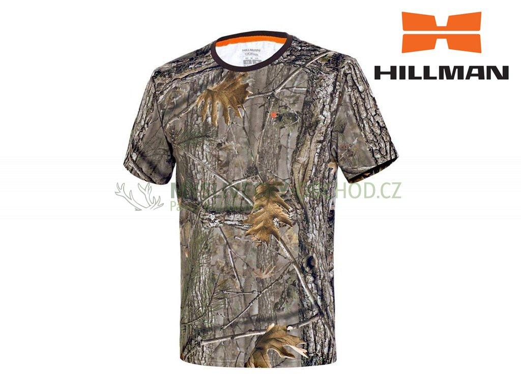 Myslivecké tričko kr. rukáv Cotton b. Kamufláž
