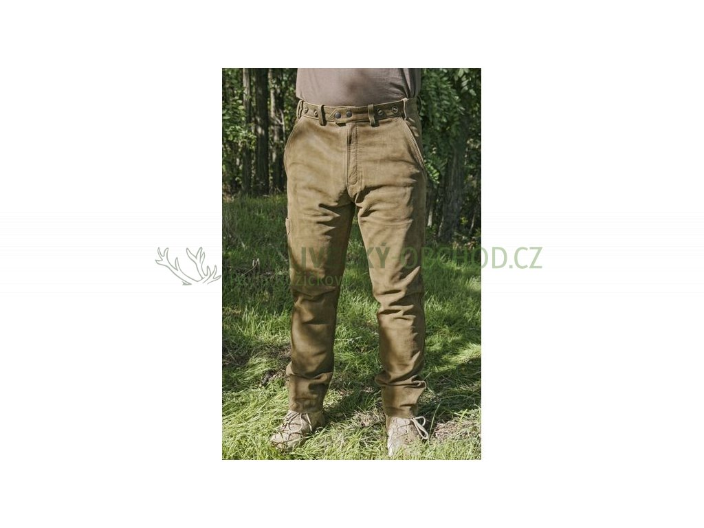 kozene kalhoty zelené 01