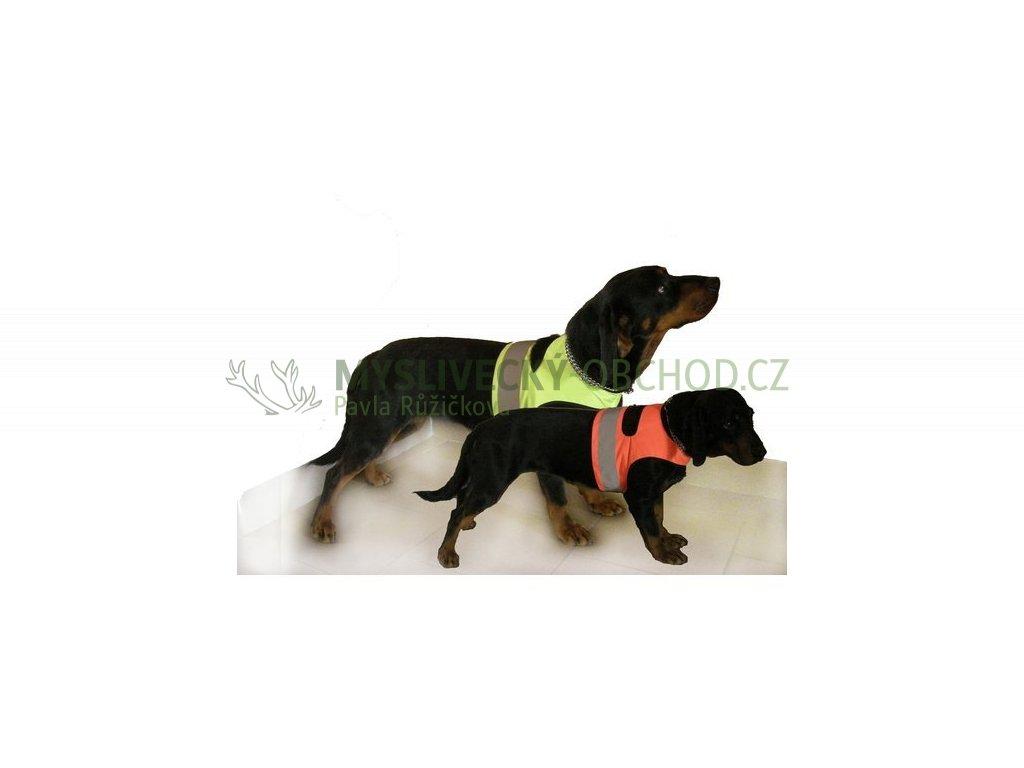 zahori rudel reflexni navlek pro psy oranzova 01