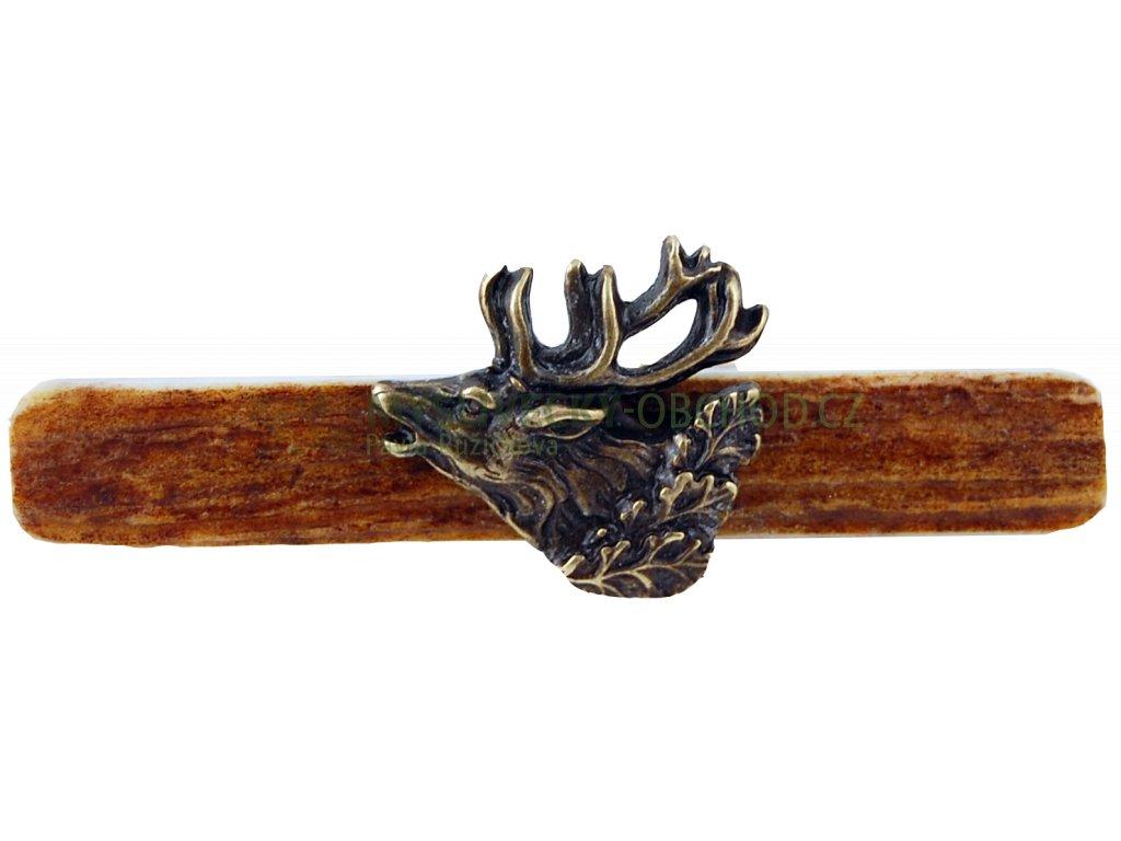 parohová spona do kravaty - jelen hlava