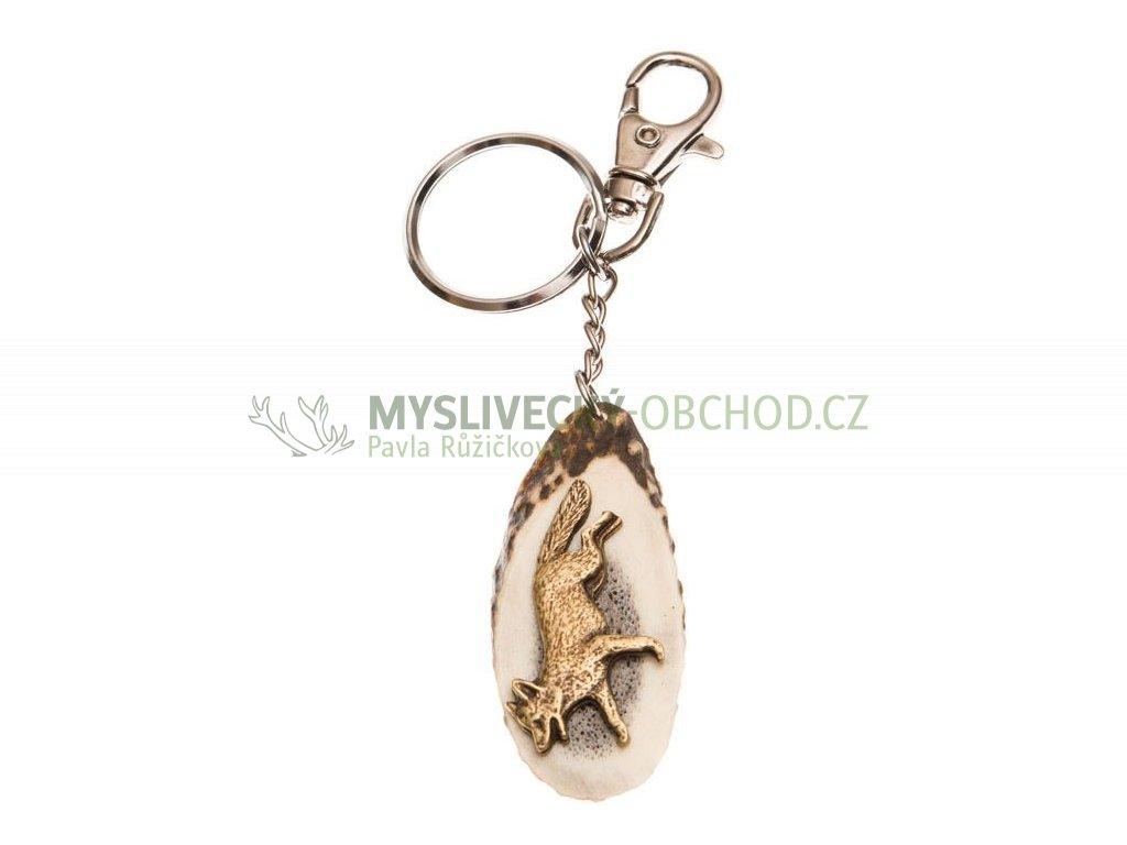 parohová klíčenka řez - liška