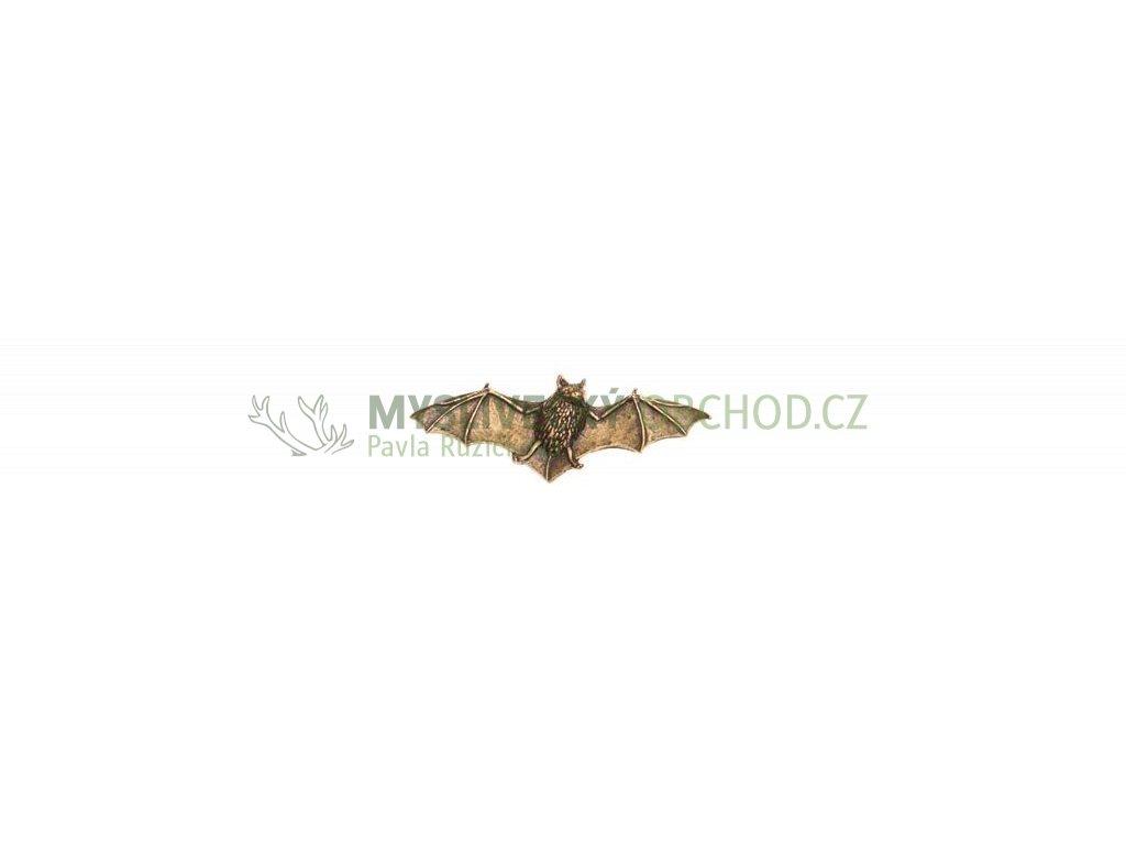 odznak na klobouk - netopýr
