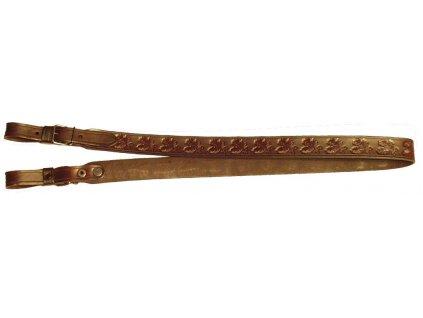 Kožený řemen na zbraň nepodšitý (Šíře 2 cm)