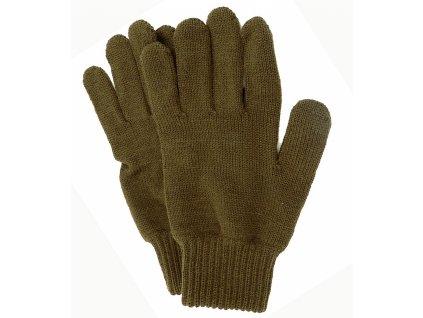 afars khaki pletene lovecke rukavice