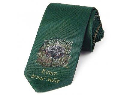 hedva pesh lovec cerne zvere kriz myslivecka kravata 01