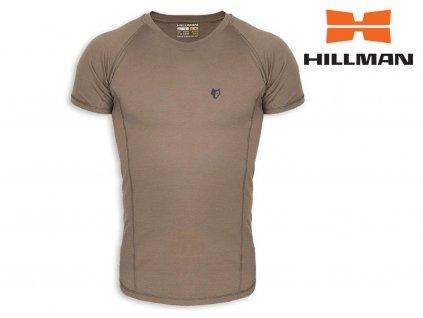 Lovecké tričko Hillman z merino vlny kr. rukáv