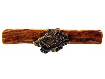 1387 divocak s trubkou parohova spona