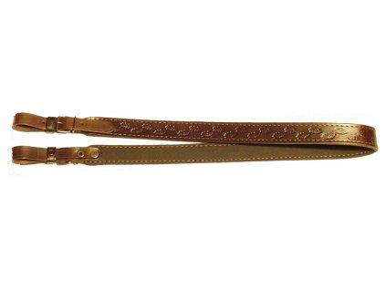 Kožený řemen na zbraň podšitý protiskluzovou gumou Zubíček (Šíře 2 cm)