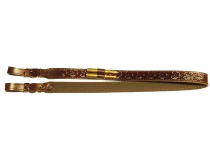 106 kozeny remen na zbran s poutky na kulove naboje zubicek