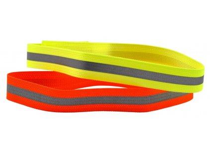 Obojek s reflexní páskou (Délka 30 cm, Barva oranžová)