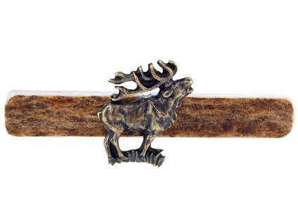parohová spona do kravaty - jelen postava