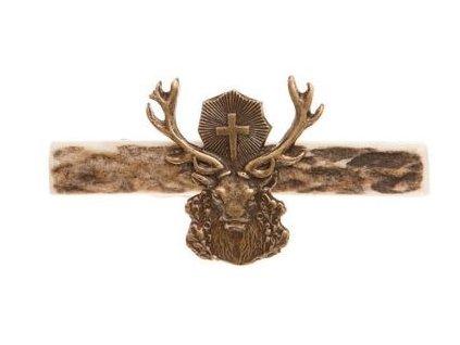 parohová spona do kravaty - svatý Hubert