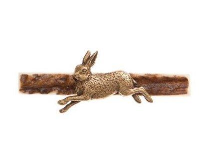 parohová spona do kravaty - zajíc v běhu