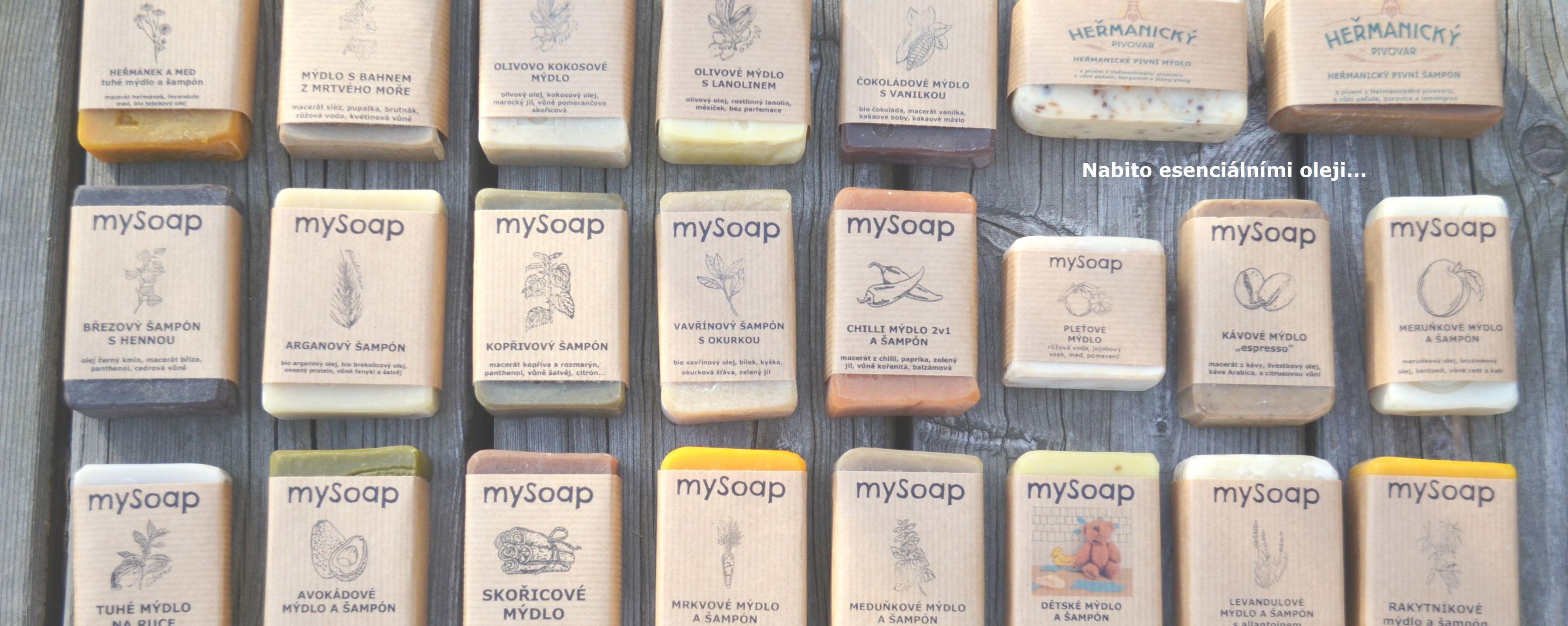 tuhá mýdla a šampóny