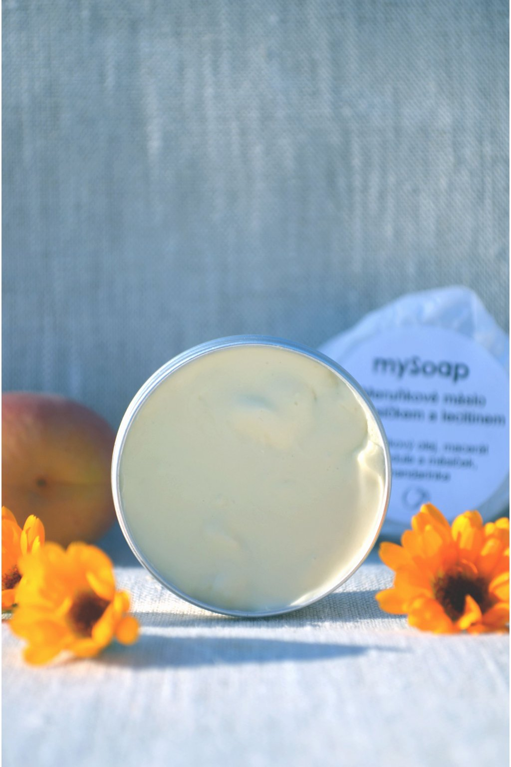 Meruňkové máslo s měsíčkem a lecitinem