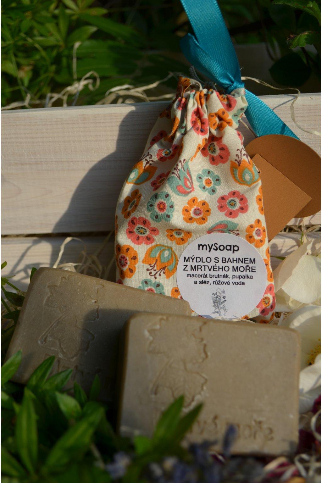 Mýdlo s bahnem z Mrtvého moře látkový pytlíček
