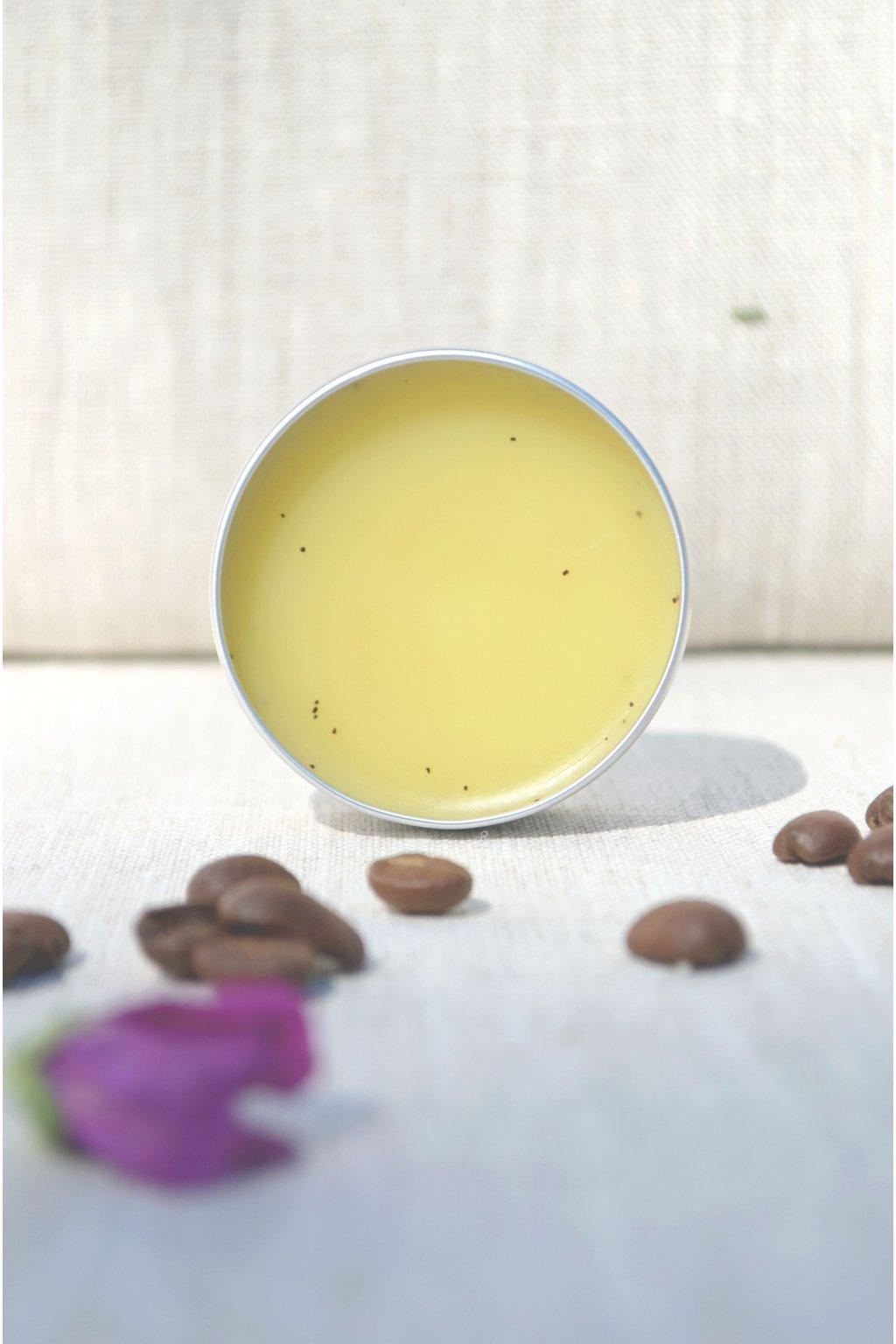 Masážní tuhý balzám citrus a káva na celulitidu (peelingový)