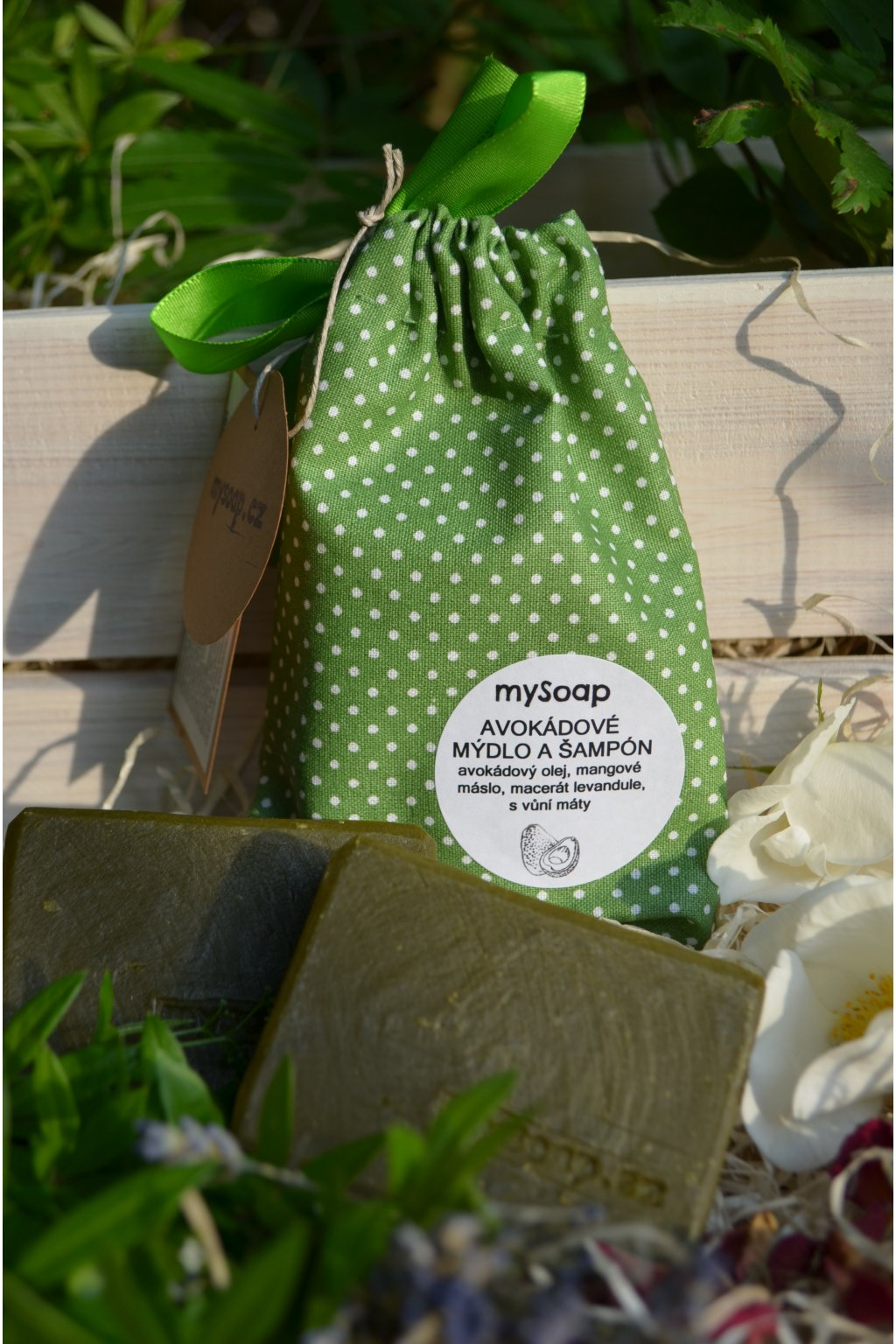 Avokádové mýdlo a šampón látkový pytlíček