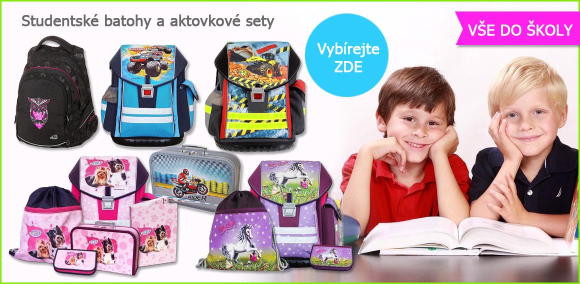 Školní aktovka a školní batoh u Myšpulinka