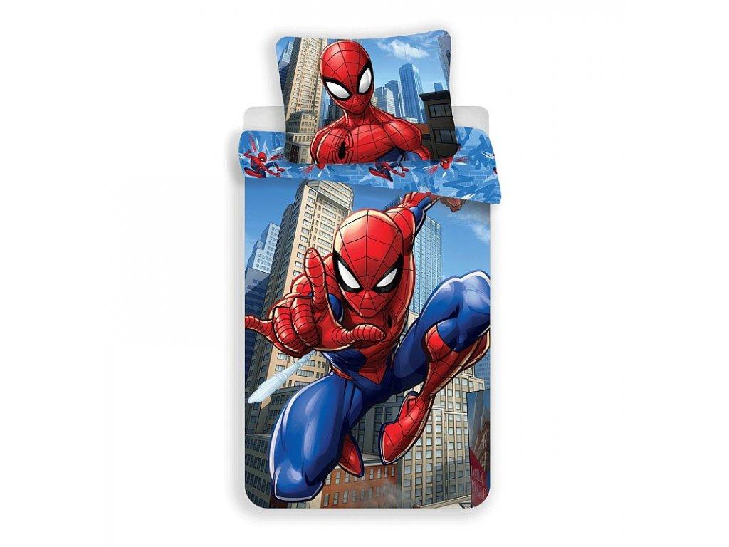 Povlečení Spiderman blue 02 140/200, 70/90