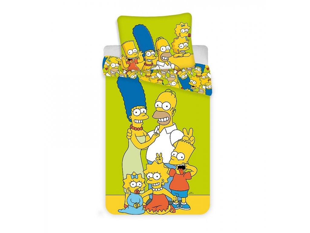 Povlečení Simpsons Family green 140/200, 70/90 - skladem