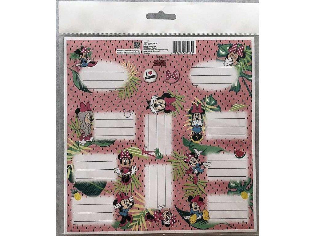 BENIAMIN Samolepící jmenovky Minnie Papír, 20x20 cm