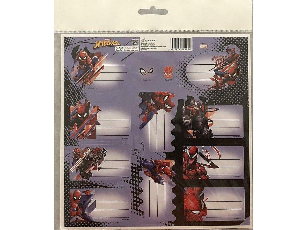 BENIAMIN Samolepící jmenovky Spiderman Papír, 20x20 cm
