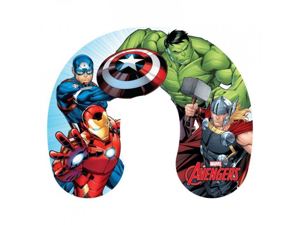 JERRY FABRICS Cestovní polštářek Avengers Polyester, 1x28x33 cm