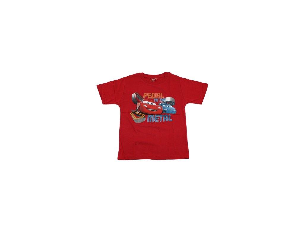 Triko Cars krátký rukáv červené 960-660
