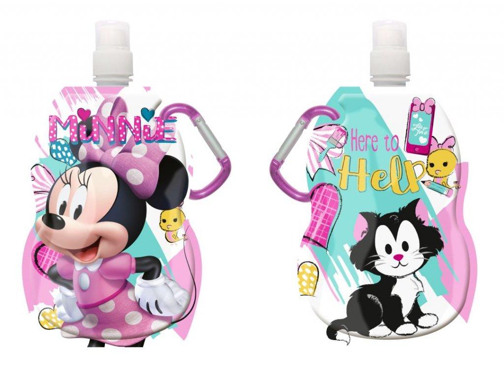 Láhev na pití s karabinou Minnie hearts 330 ml