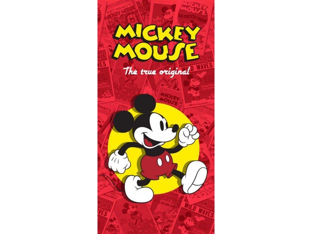 Osuška Mickey klasik červená 75/150