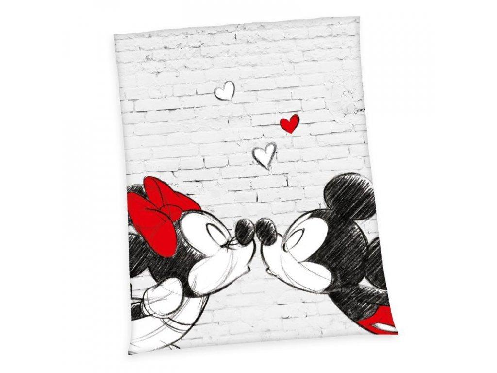 Micropolar fleece deka Mickey a Minnie 150/200