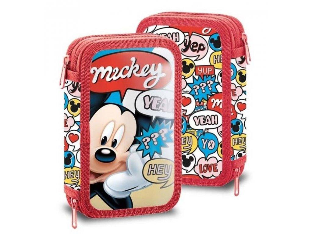 Dvoupatrový plný penál Mickey Hey